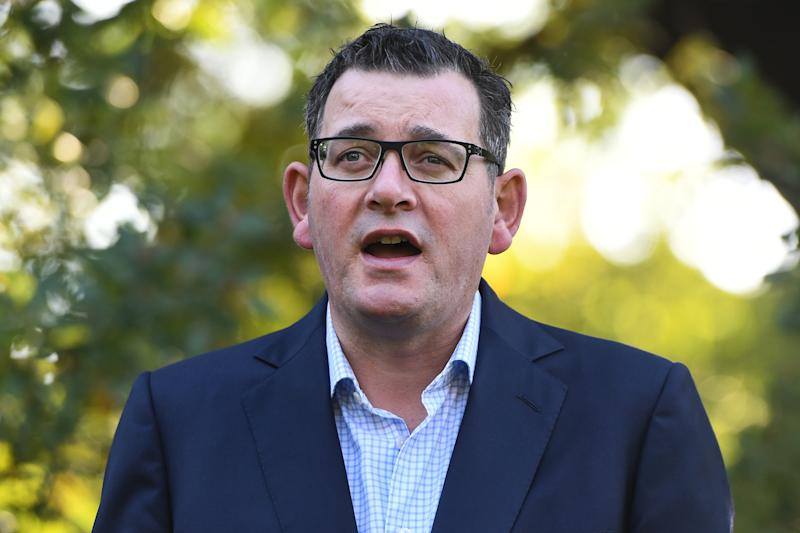 Daniel Andrews stressed if the restrictions aren't adhered to, people will die. Source: AAP