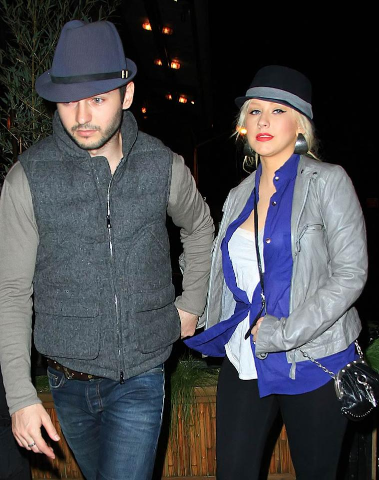"""According to <i>Star</i>, Christina Aguilera is """"planning to secretly marry"""" her boyfriend Matt Rutler. In fact, the singer and Rutler have been """"talking about marriage"""" for months, reveals the mag, which notes how """"she's absolutely consumed with him and can't stand to be apart for even a minute."""" For the exclusive details on Aguilera's upcoming """"hush-hush"""" wedding, and the highly unique way Rutler popped the question, click over to <a href=""""http://www.gossipcop.com/christina-aguilera-matt-rutler-getting-married-wedding-nuptials-engaged/"""" target=""""new"""">Gossip Cop</a>. Jackson Lee/<a href=""""http://www.splashnewsonline.com"""" target=""""new"""">Splash News</a> - May 9, 2011"""