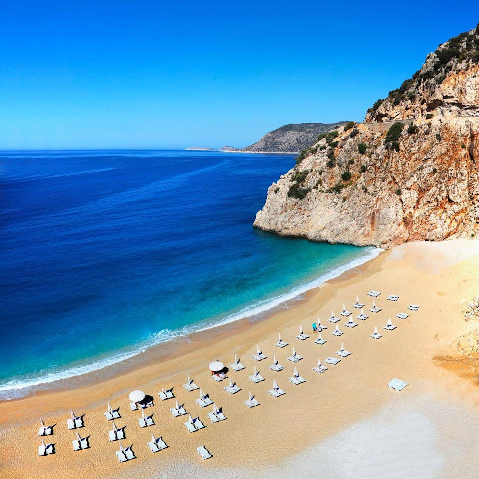 <p>Greece and Italy might get more attention when it comes to Mediterranean beaches, but Turkey's southwestern coast is home to some beautiful options including the small sandy cove at Kaputas Beach.</p>