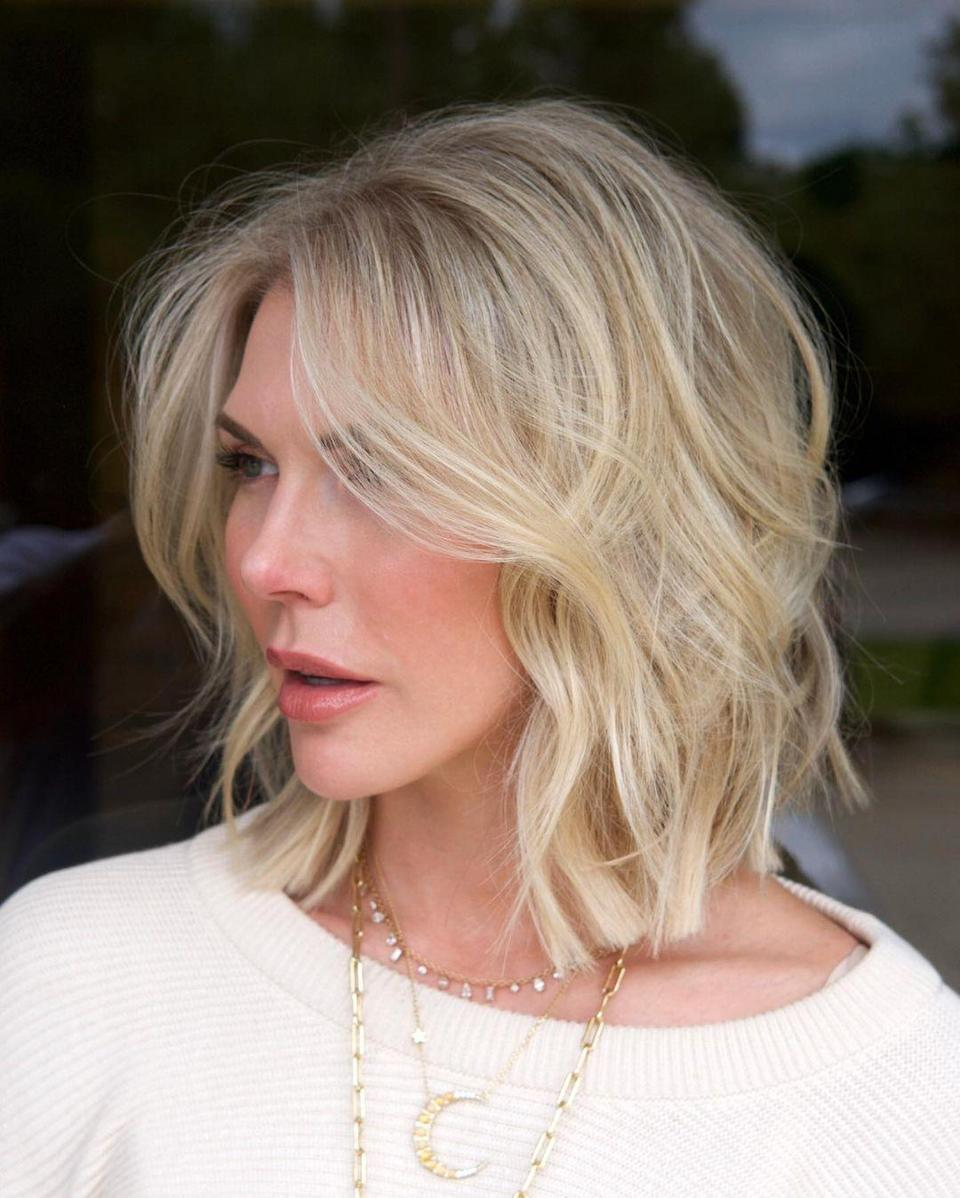 <p>To avoid the long straight lines around your face that are often part of a bob cut, add face framing to break up the lines and create movement, Chris Jones says. This look creates a faux curtain bang effect and can look great styled straight or curly.</p>