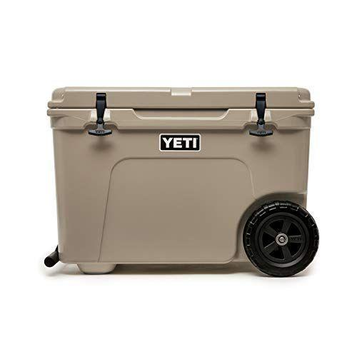 """<p><strong>YETI</strong></p><p>amazon.com</p><p><strong>$399.98</strong></p><p><a href=""""https://www.amazon.com/dp/B07GJZDNXG?tag=syn-yahoo-20&ascsubtag=%5Bartid%7C10050.g.1528%5Bsrc%7Cyahoo-us"""" rel=""""nofollow noopener"""" target=""""_blank"""" data-ylk=""""slk:Shop Now"""" class=""""link rapid-noclick-resp"""">Shop Now</a></p><p>He's sure to appreciate the wheels on this best-in-class cooler. Now he can take his favorite drinks with him to tailgates, camping trips, and backyard barbecues.</p>"""