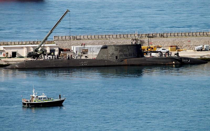 The Astute-class nuclear submarine, HMS Ambush at it's mooring in Gibraltar, March 2016 - EFE