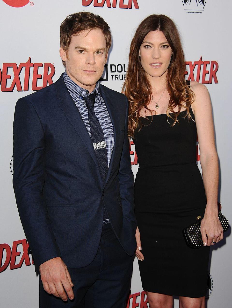 """<p>The <em>Dexter</em> siblings definitely had some abnormal chemistry on-set, and so they went on to date in real-life. After marrying in 2008, the two ended up getting a divorce <a href=""""http://www.huffingtonpost.com/2010/12/13/dexter-stars-split-michael-c-hall-jennifer-carpenter-divorce_n_796279.html"""" rel=""""nofollow noopener"""" target=""""_blank"""" data-ylk=""""slk:in 2011"""" class=""""link rapid-noclick-resp"""">in 2011</a>. But, they had to set it aside and keep up their contracts by continuing to work together until the show's end in 2013.</p>"""
