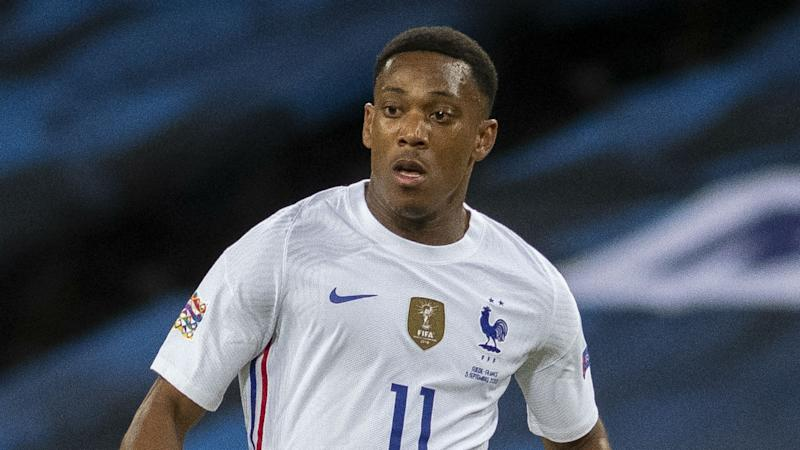 Martial handed first France start in two and a half years
