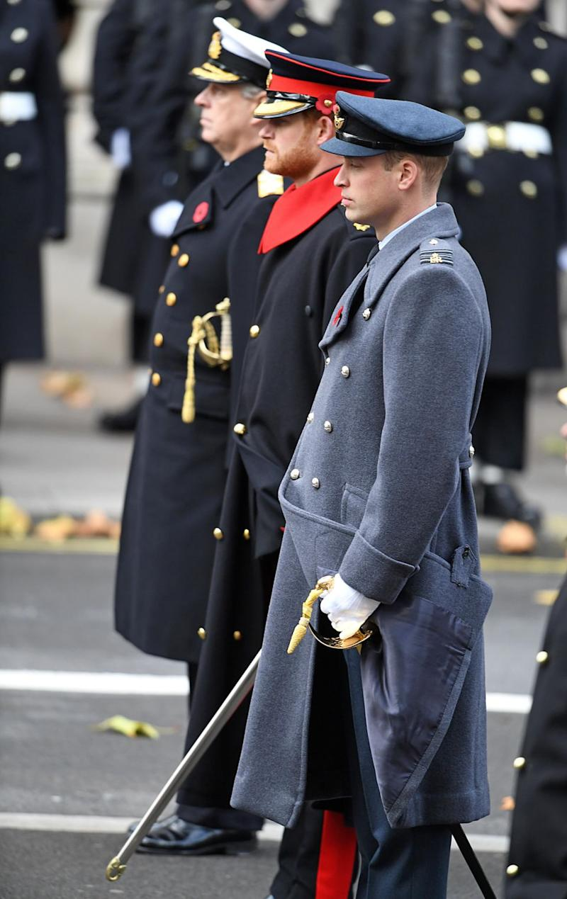 He appeared alongside Prince William and Prince Charles on the day. Photo: Getty Images