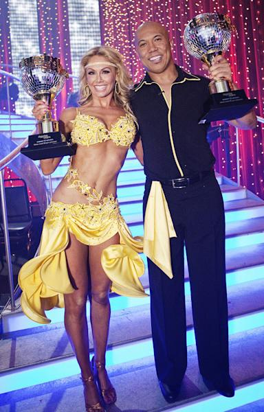 "Hines Ward and Kym Johnson, ""<a href=""/dancing-with-the-stars/show/38356"">Dancing With the Stars</a>"" Season 12 (ABC): Proving that athletes really do have what it takes, former NFL football player Hines Ward and his pro partner, Kym Johnson, danced their way to a Mirror Ball Trophy on Season 12 of ""Dancing With the Stars."" Kirstie Alley and Chelsea Kane came in second and third place, respectively. Appearing on ""Jimmy Kimmel Live"" after the finale, Hines dished, ""I've never danced before, so for me to walk away with this trophy is an amazing feat. It takes a whole team to win the Super Bowl, but winning this dancing competition, I owe everything to Kym. She's an amazing teacher."""