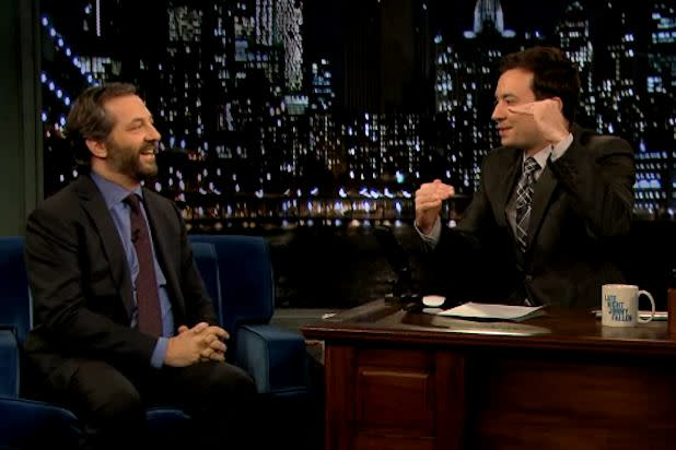 Judd Apatow Caught Batman With an 'Enormous Booger Hanging Out of His Nose' (Video)
