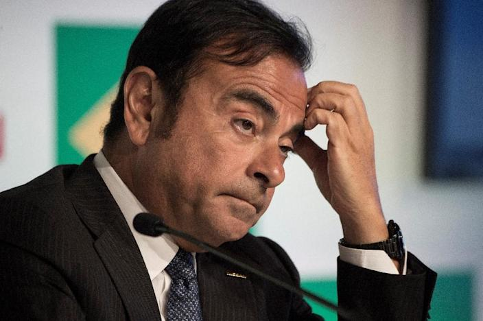 Shares of French auto giant Renault fell sharply after Chief Executive Carlos Ghosn was arrested in Japan over allegations of financial misconduct (AFP Photo/VANDERLEI ALMEIDA)