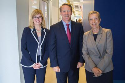 LCCC President Marcia Ballinger, Ph.D., Ohio's Lt. Governor Jon Husted, and LeadingAge President and CEO, Kathryn Brod announce LCCC's first healthcare apprenticeship.