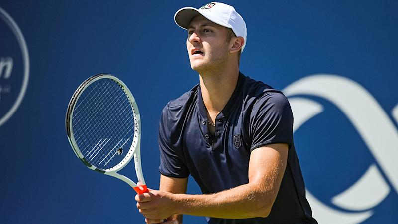 Brayden Schnur, pictured here in action at the ATP Coupe Rogers in Canada in 2019.