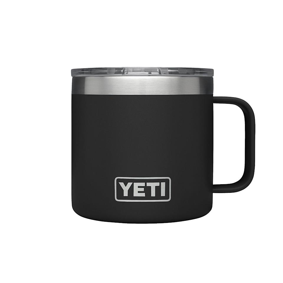 "<p>The 14-ounce YETI Rambler mug boasts a super sleek, minimal design. The mug is perfect for anyone who commutes to work and is looking to keep their coffee piping hot the whole way. Plus, the mug's coating is scratch, peel, and fade-resistant.</p> <br> <br> <strong>YETI</strong> YETI Rambler 14 oz Insulated Mug with Lid, Black, $24.99, available at <a href=""https://www.amazon.com/YETI-Rambler-Stainless-Vacuum-Insulated/dp/B074W9QLNX/ref=zg_bs_602608_1?_encoding=UTF8&refRID=CJ2HNXGMAKPJGQQJAARC"" rel=""nofollow noopener"" target=""_blank"" data-ylk=""slk:Amazon"" class=""link rapid-noclick-resp"">Amazon</a>"