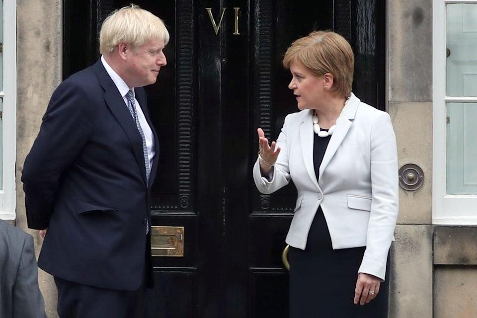 Scotland's First Minister Nicola Sturgeon said Prime Minister Boris Johnson 'would expose an absence of basic humanity' if he cuts Universal Credit (Jane BArlow/PA) (PA Archive)