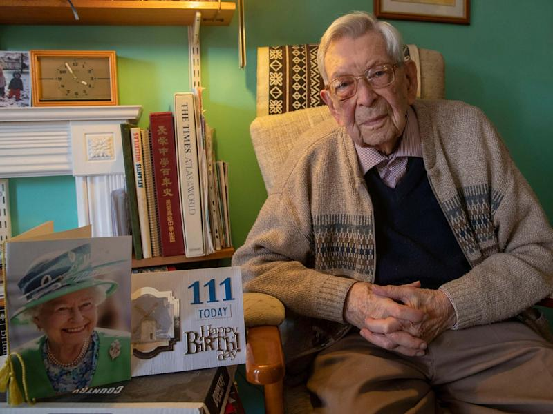 Bob Weighton, aged 111, is now the oldest man in the world: PA