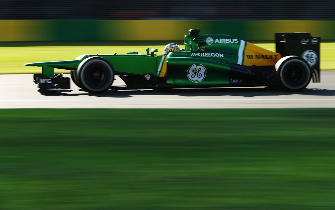 MELBOURNE, AUSTRALIA - MARCH 15:  Charles Pic of France and Caterham drives during practice for the Australian Formula One Grand Prix at the Albert Park Circuit on March 15, 2013 in Melbourne, Australia.  (Photo by Robert Cianflone/Getty Images)