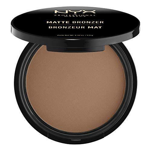 """<p><strong>NYX Professional Makeup</strong></p><p>amazon.com</p><p><strong>$9.00</strong></p><p><a href=""""https://www.amazon.com/dp/B007NNTAXK?tag=syn-yahoo-20&ascsubtag=%5Bartid%7C10055.g.36020083%5Bsrc%7Cyahoo-us"""" rel=""""nofollow noopener"""" target=""""_blank"""" data-ylk=""""slk:Shop Now"""" class=""""link rapid-noclick-resp"""">Shop Now</a></p><p>Want the glow without the glitter? This affordable drugstore pick from NYX Professional Makeup is the perfect solution. Its matte formula <strong>helps <a href=""""https://www.goodhousekeeping.com/beauty/anti-aging/a35847/how-to-minimize-pores/"""" rel=""""nofollow noopener"""" target=""""_blank"""" data-ylk=""""slk:minimize large pores"""" class=""""link rapid-noclick-resp"""">minimize large pores</a> and leaves your skin with a velvet finish</strong>. The <a href=""""https://www.goodhousekeeping.com/beauty/makeup/g33298416/best-vegan-cruelty-free-makeup/"""" rel=""""nofollow noopener"""" target=""""_blank"""" data-ylk=""""slk:vegan bronzer"""" class=""""link rapid-noclick-resp"""">vegan bronzer</a> is an Amazon favorite, with 87% of reviewers giving it a 4 star rating or above.""""It's not harsh and bold like other powders and creams can be for beginners,"""" a reviewer said. """"It blends so easily and so well into the skin to give a nice kiss of color.""""</p>"""