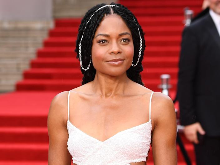 """Naomie Harris attends the World Premiere of """"No Time to Die"""" at the Royal Albert Hall on September 28, 2021 in London, England."""