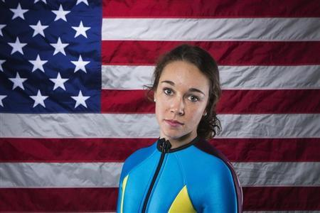 Olympic ski jumper Hendrickson poses for a portrait during the 2013 U.S. Olympic Team Media Summit in Park City, Utah