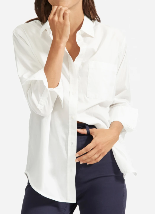 Everlane Silky Cotton Oversized Shirt