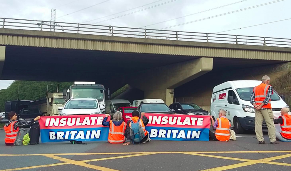 Climate change protesters blocked a number of junctions of the M25 on Monday. (Insulate Britain)