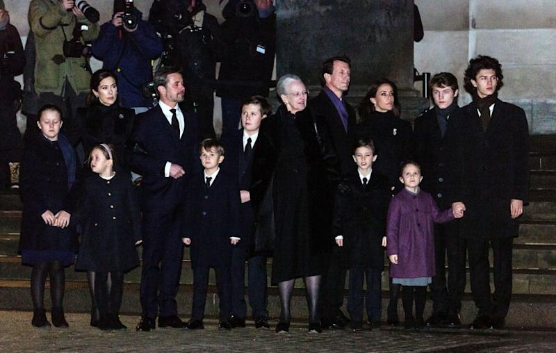 Princess Mary and her husband Prince Frederik were joined by their four children, Prince Christian, Princess Isabella and twins Princess Josephine and Prince Vincent, the family looking very emotional as the stood alongside Queen Margrethe, Prince Joachim and further family members. Source: Ole Jensen - Corbis/Corbis via Getty Images