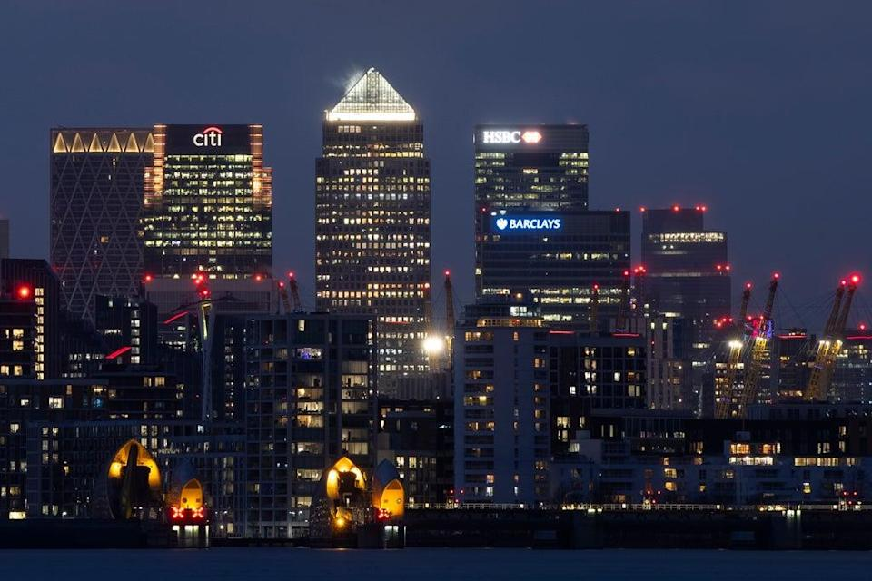 Canary Wharf, London's banking district  (Getty Images)