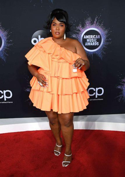 PHOTO: Lizzo attends the 2019 American Music Awards at Microsoft Theater on Nov. 24, 2019 in Los Angeles. (Getty Images for dcp)