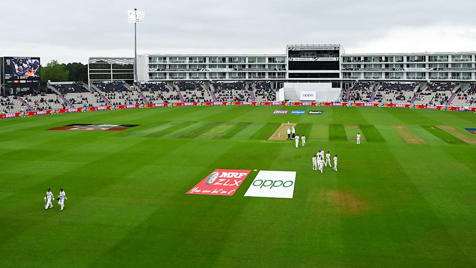 Players and officials, pictured here leaving the field on day two of the ICC World Test Championship final.
