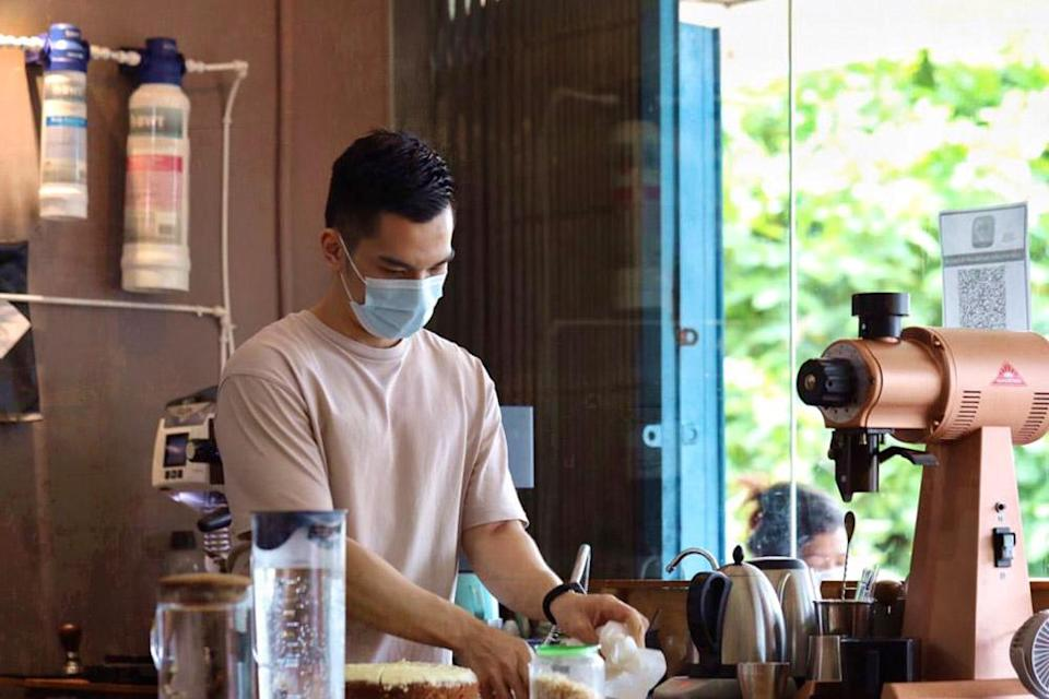 Barista Michael Woon sometimes makes freeze-distilled milk for a creamier cuppa at Ebony & Ivory.