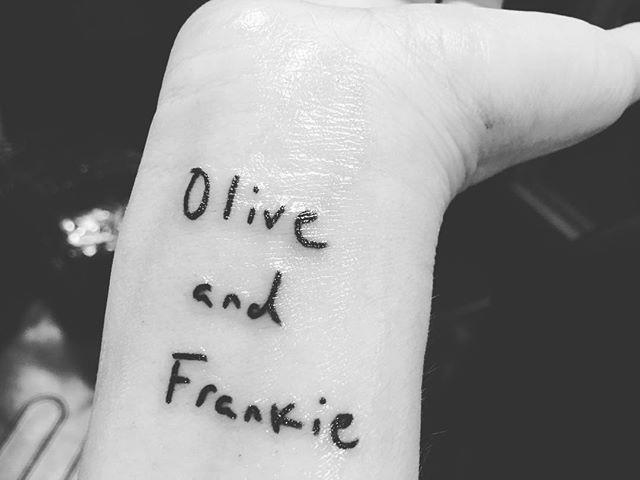 <p>Barrymore's adorable ink commemorates her two daughters, Olive and Frankie. She shared photos of her new tattoo the day before news broke of her split from ex-husband Will Kopelman.</p>