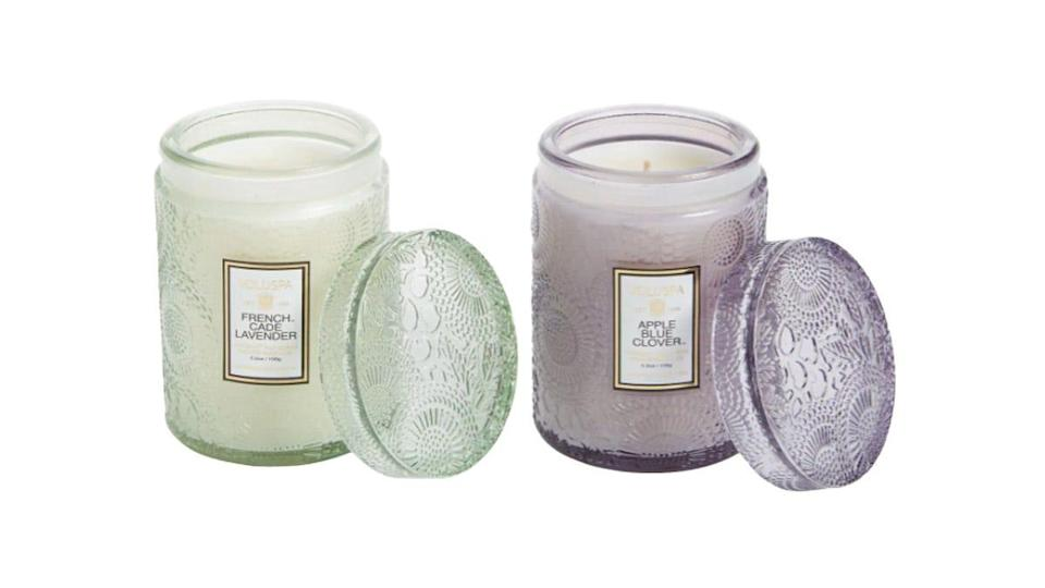 Our editor loves the way Voluspa candles fill the room with scent.