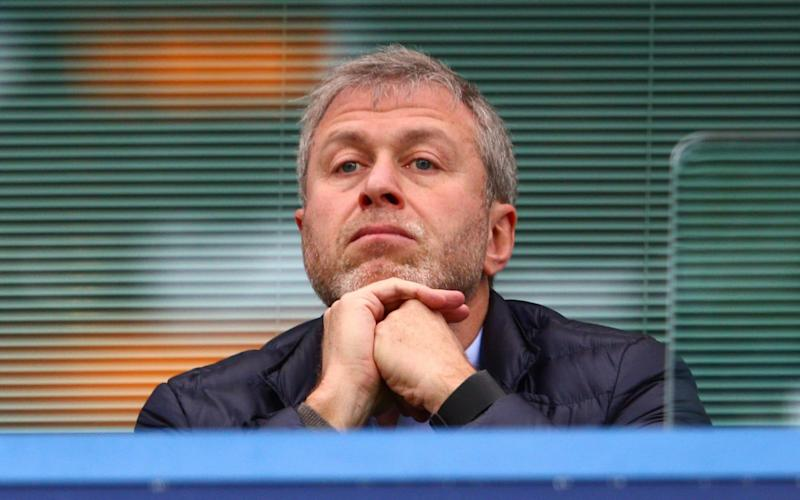 Chelsea owner Roman Abramovich is seen on the stand at Stamford Bridge  - Getty Images