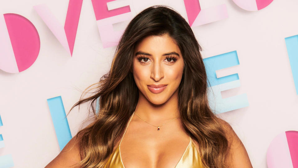 Shannon Singh was the first contestant to be dumped from 'Love Island' this year. (ITV)