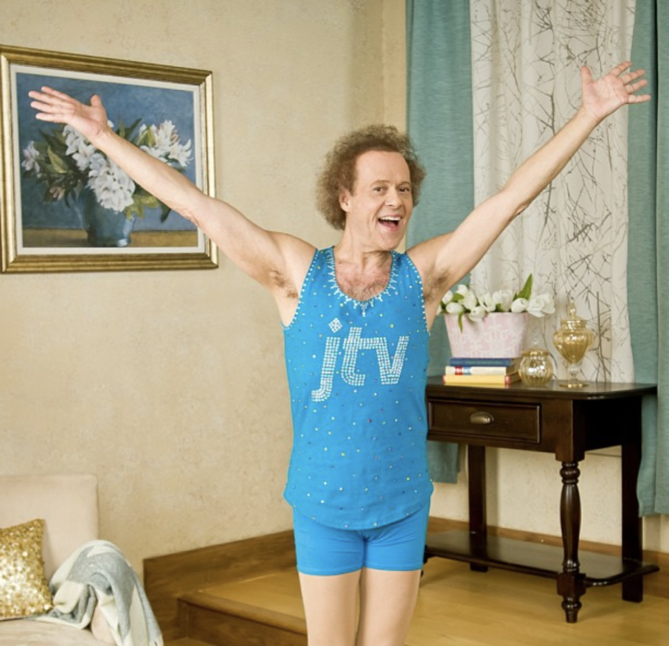 Workout icon Richard Simmons is ramping up his YouTube channel for people under home quarantine. (Screenshot: Instagram/Richard Simmons)