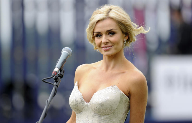 Katherine Jenkins performs at Epsom in June 2012: Getty Images