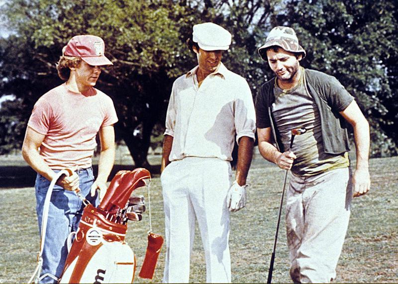 """<a href=""""http://movies.yahoo.com/movie/caddyshack/"""">CADDYSHACK</a> (1980) <br>Directed by: Harold Ramis <br>Starring: Chevy Chase and Bill Murray"""