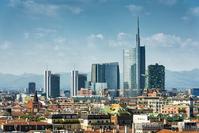 Milan skyline with modern skyscrapers in Porto Nuovo business district in Italy (Photo: scaliger via Getty Images)