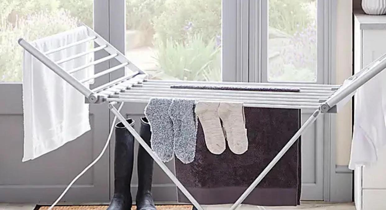 Missed out on Aldi's heated clothes airer? We've found an even more affordable option. (Dunelm)