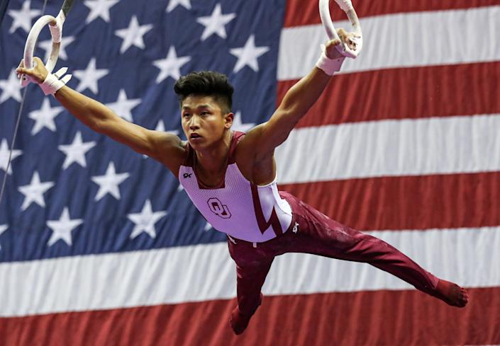 Yul Moldauer is a favorite to make the Olympic team in men's gymnastics this summer.