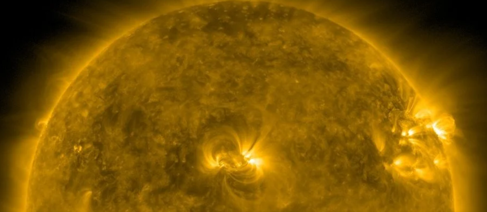 The flare blasted out at the weekend (NASA)