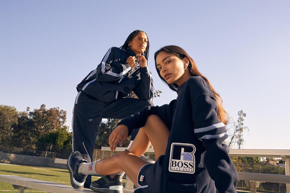 Boss and Russell Athletic teamed up  on a collaboration inspired by off-court classic sportswear earlier thsi year  (Boss PR image)
