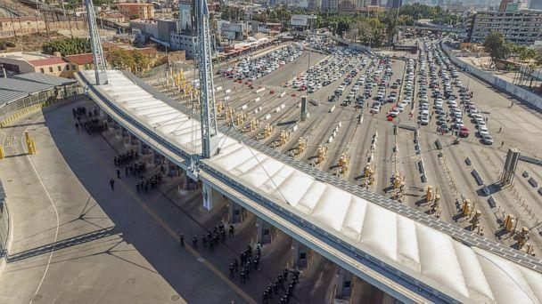 PHOTO: U.S. Customs and Border Protection personnel along with DOD personnel secure the San Ysidro Port of Entry at the border of California and Mexico, Nov. 25, 2018. (CBP)