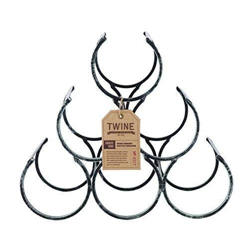 Country Home Wine Shrine by Twine - 6 Bottle Free Standing Metal Wine Rack (Amazon)