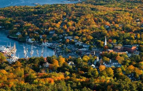 Camden from the top of Mount Battie - Credit: Getty
