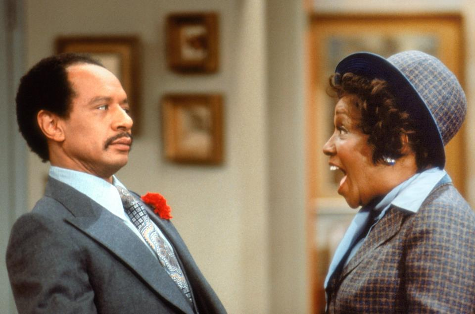 """Sherman Hemsley and Isabel Sanford in """"The Jeffersons"""" (1975-85), which was spun off from """"All in the Family."""""""