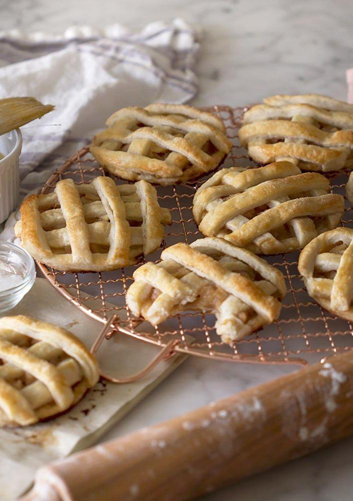 """<p>Are these cookies or just mini apple pies? Trick question: They taste like the best of both! </p><p><strong>Get the recipe at <a href=""""https://preppykitchen.com/apple-hand-pies/"""" rel=""""nofollow noopener"""" target=""""_blank"""" data-ylk=""""slk:Preppy Kitchen"""" class=""""link rapid-noclick-resp"""">Preppy Kitchen</a>.</strong> </p>"""