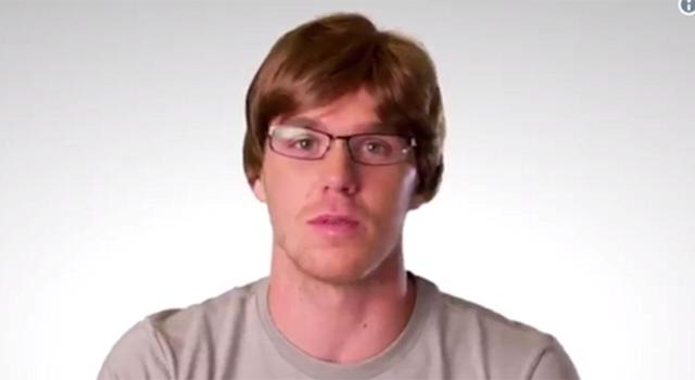 """<a class=""""link rapid-noclick-resp"""" href=""""/nhl/players/6743/"""" data-ylk=""""slk:Connor McDavid"""">Connor McDavid</a> as Allen, analytics expert, in an ad for NHL 18."""