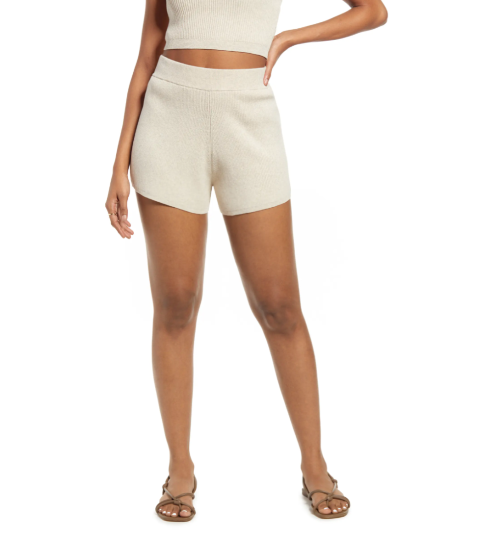 Sweater Shorts in Beige Oatmeal (Photo via Nordstrom)
