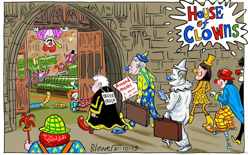 House of Clowns: Cartoonist Blower's take on the latest antics in the Commons - Blower