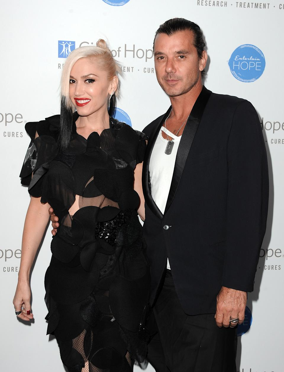 Gwen Stefani and Gavin Rossdale attend the City of Hope Spirit of Life Gala honouring Apple's Eddy Cue at the Pacific Design Center on October 23, 2014 in West Hollywood, California. (Photo by Angela Weiss/Getty Images for City Of Hope)