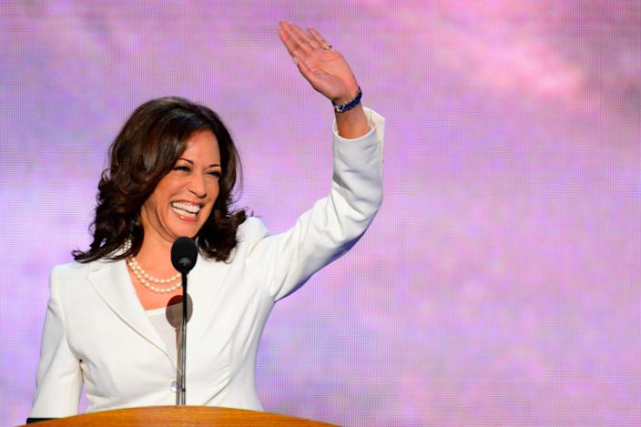 <p>In 2012, Harris addressed the Democratic National Convention, re-nominating President Barack Obama and Vice President Joe Biden ahead of that year's presidential election. </p>